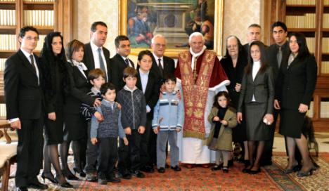 Fenech Adami family meets Pope Benedict XVI
