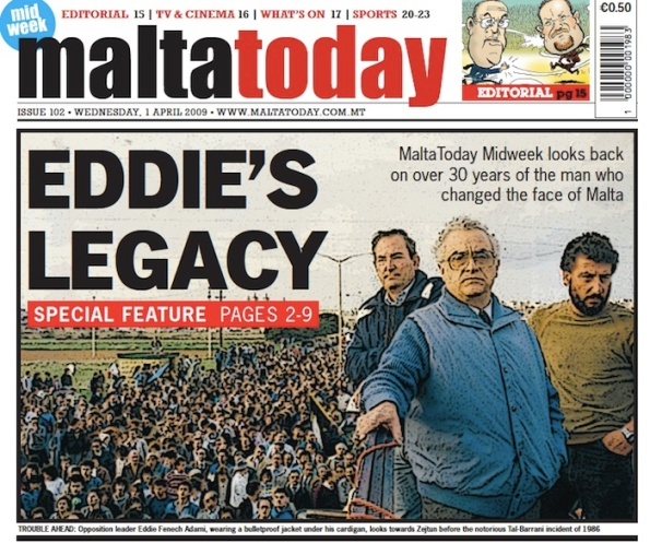 In 2009 MaltaToday wrote a requiem for Eddie the politician. But he's back, to save Lawrence's, and maybe his party's, bottom.