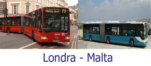 Arriva bendy bus London Malta